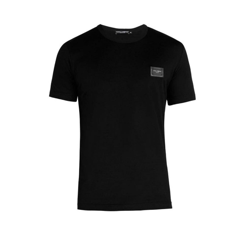 (ドルチェ&ガッバーナ) Dolce & Gabbana メンズ トップス Tシャツ Crew-neck logo-patch T-shirt [並行輸入品] B07FCYVW98 44EU-IT