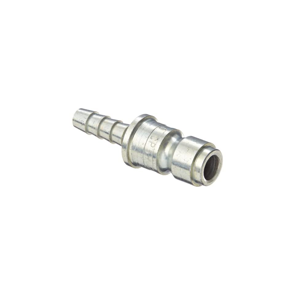 Dixon Valve DCP542 Steel Air Chief Automotive Interchange Air Fitting, Quick Connect Plug, 3/8 Coupler x 1/4 Hose ID Barbed, 70 CFM Flow Rating