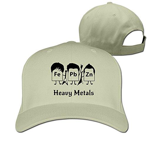 Men Women Element-Heavy Metals,Fe,Pb,Zn, Sport Snapback Peaked Hats Natural Unisex