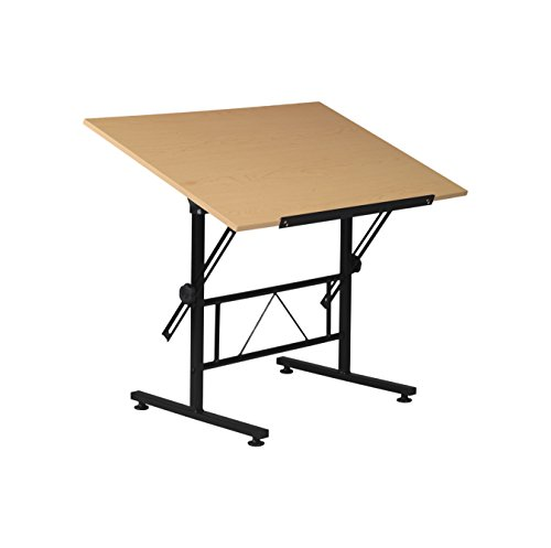 - Martin Smart Drawing and Craft Table, Black with 35.5