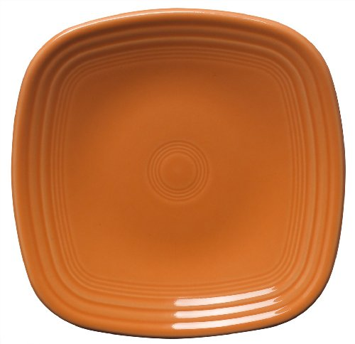 Fiesta 7-3/8-Inch Square Salad Plate, Tangerine