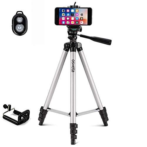 Osveta Adjustable Aluminium Alloy Tripod Stand Holder for Mobile Phones, 360 mm -1050 mm, 1/4 inch Screw Mobile Holder Bracket
