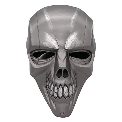 Bulex Black Mask Roman Sionis Helmet Batman Cosplay Halloween Costume Mask Skull Arkham City Party (Gray) ()