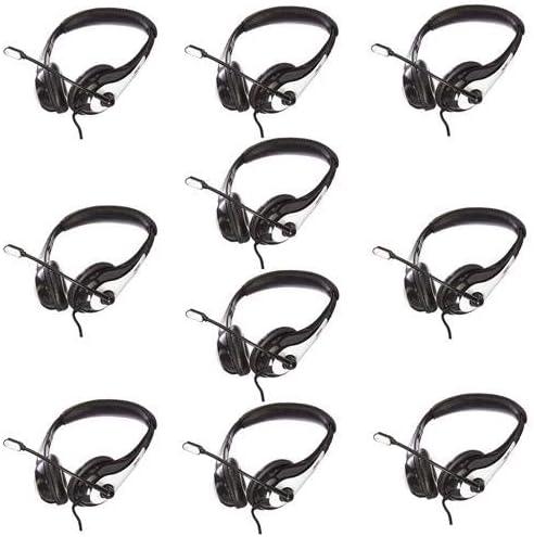 Avid Education 10 Pack AE-36 HeadphoneBoom Microphone Single Plug White