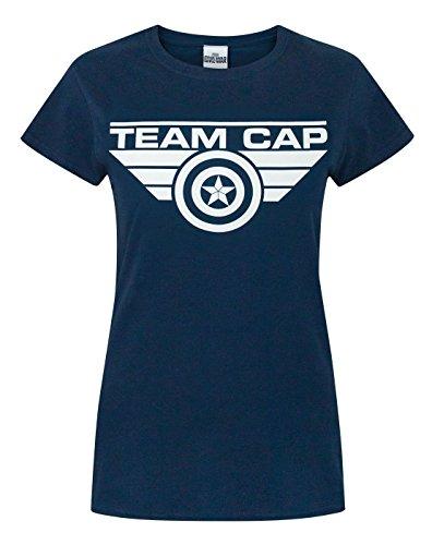 Captain America Civil War Team Cap Women's T-Shirt - Team T America Shirt