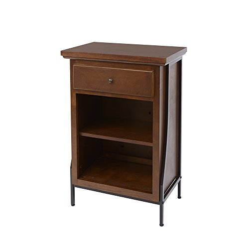 Silverwood Leighton Bathroom Collection 2-Tier Floor Shelf with Drawer 2, 32'' H by Silverwood