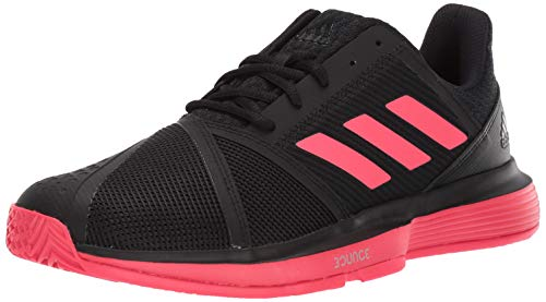 adidas Men's Courtjam Bounce, Black/Shock red/White, 9.5 M US
