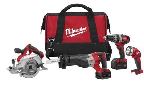 Milwaukee 2694-24 M18 18-Volt 4-Tool Cordless Combo (Cordless Combination Kit)
