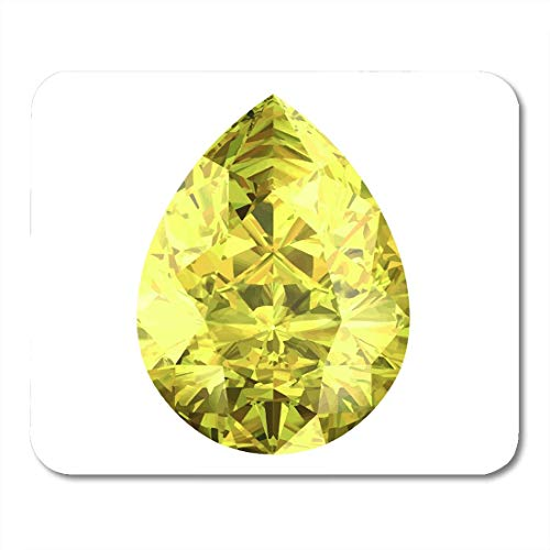Mouse Pads Brilliant Black Diamond Yellow Sapphire White Bonus Crafts Crystal Mouse Pad for notebooks, Desktop Computers mats Office Supplies