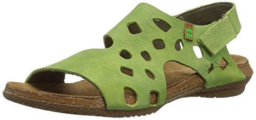 Sandalias Mujer Abierta Para Verde green Punta Con N5061 El Naturalista q0FHgE