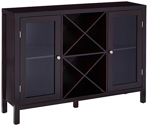 Kings Brand Furniture Wood Wine Rack Console Sideboard Table with Storage, (Home Bar Furniture)
