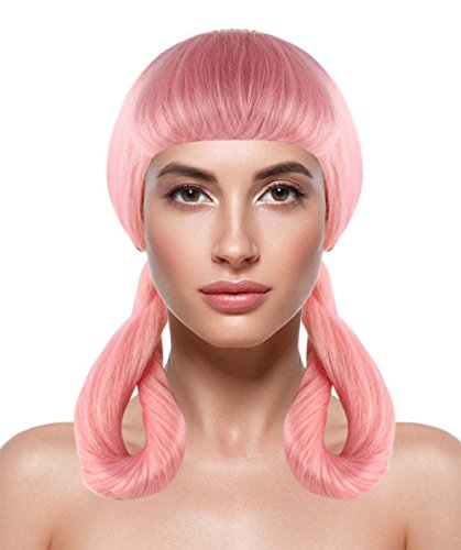 Pink Ladies Costume Hairstyles (Adult Womens Fancy Pink Costume Wig Animation Character Style HW-1439)