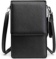 Small Crossbody Cell Phone Purse for Women, Mini Messenger Shoulder Bag Wallet with Credit Card Slots