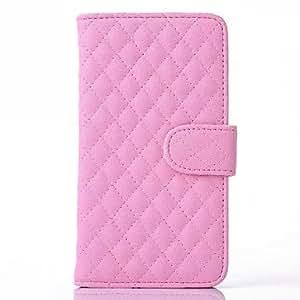 WQQ piel del cabo rómbica cuero de la PU caso de cuerpo completo con soporte para Samsung Galaxy Note 3 (colores surtidos) , Rose