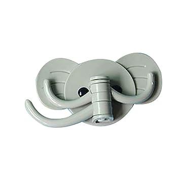 KDSANSO Perchero Ganchos Adhesivos Elefante Ganchos de Pared ...