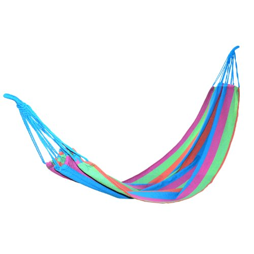 Yes4All Purple Strip Cotton Hammock (Tree Strap not Included) - ²COTHZ