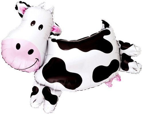 30'' COW BALLOON - Amazing New HOVERING ANTI-GRAVITY TOY - Free Floating, Flying Barnyard Farm Animal Kingdom Cowboy Birthday Party Favor by SPACE PET