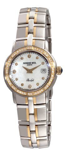 Raymond Weil Women's 9440-STS-97081 Parsifal Two-Tone Mother-of-Pearl Diamond Dial Watch