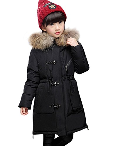 9a9e582f3 CUKKE Boy s Down Fur Hooded Jacket Winter Warm Outwear Winter Coat ...