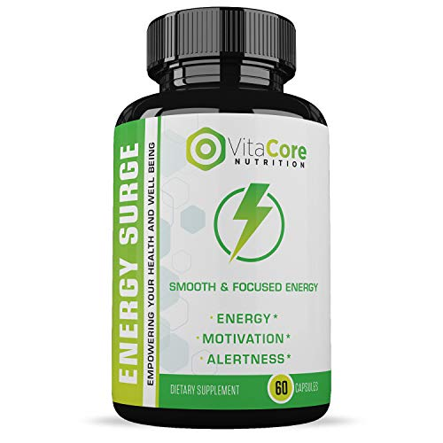 Energy Surge - Memory, Focus and Clarity Formula - Nootropic Pills for Performance, Mood and Anti Anxiety, Helps Reduce Stress and Relax - 60 Capsules