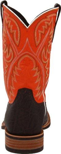 Ariat Uomo Rinvii Western Boot Elefante Cioccolato / Mandarino