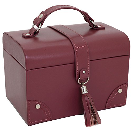 Paylak TS393BUR Leather Jewelry Box with Tassel