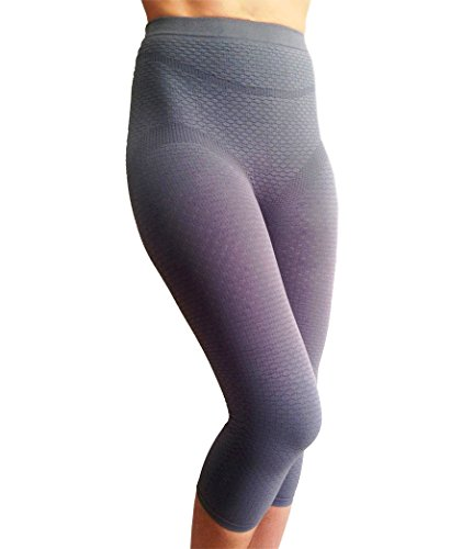 Bioflect® FIR Therapy Anti Cellulite Micromassage Compression Capri Pants for Lymphedema & Lipedema Support (XL) ()