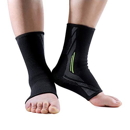 "3D Ankle Braces for Men & Women Plantar Fasciitis Socks Arch Compression Support Foot Pain Relief,Sprains Swelling Achilles Tendonitis-""Perfect Fit ""Warranty"
