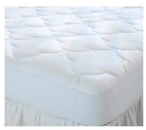 Quilted Cot Size Cotton Top Camp Mattress Pad, 30' X 75' X 10'