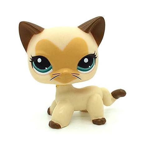 Pet Shop Juguetes LPS Raras de pie Forma máscara de Gato de Pelo Corto (Elegir su Gato) para niños Regalo 1pc, 3573