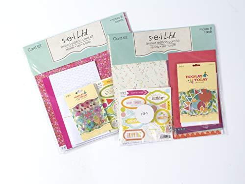 Kits Birthday Card Making Kit Pack Set Of Two Make 16 Cards SEI