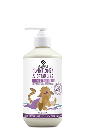 hea Conditioner and Detangler, Gentle for Babies and Up, Helps Soothe while Removing Tangles with Shea Butter, Neem, and Lemon Balm, Fair Trade, Lemon Lavender, 16 Ounces ()