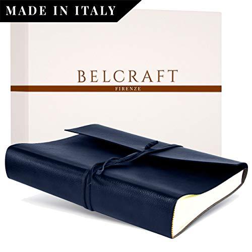 Belcraft Tivoli Large Bonded Leather Photo Album, Handmade Classic Italian Style, Including Special Box, A4 (23x30 cm) Navy ()