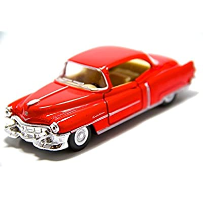 1953 Cadillac Series 62, Red - Kinsmart 5339D - 1/43 scale Diecast Model Toy Car (Brand New, but NO BOX): Toys & Games