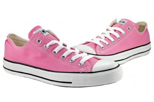 Converse Unisex Chuck Taylor All Star Low Top Pink Sneakers - 7 B(M) US Women / 5 D(M) US Men
