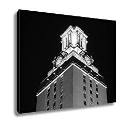 Ashley Canvas University Of Texas Clock Tower At Night, Wall Art Home Decor, Ready to Hang, Black/White, 16x20, AG5420254
