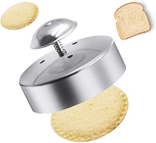 FENDIC Sandwich Cutter and Sealer for Kids, 3-1/2 Inch Stainless Steel Round Sandwich Cutter, Sandwich Sealer and Decruster, Sandwich Maker, Sandwich Cutter for Making Sandwiches, Hamburgers, Pie