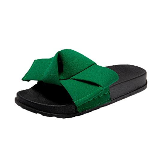 Women Summer Slippers,Fullfun Fashion New Bow-Knot Flat Slippers durable service