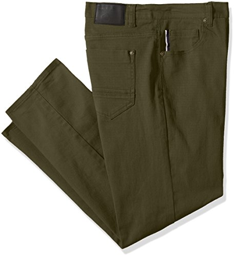 Southpole Men's Big and Tall Flex Stretch Basic Rinse Denim Pants In Twill Fabric, Olive, - Jeans Green Denim