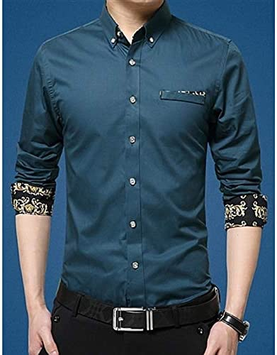 IYFBXl Camisa de Hombre - Soporte de Color sólido, Royal Blue, XXXXXL: Amazon.es: Deportes y aire libre