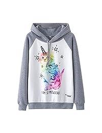 AMOUSTORE Crop Hoodies for Women Cute Hooded Sweatshirt Long Sleeve Pullover Tops