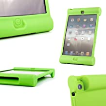 DURAGADGET Green Rubber Shock Resistant Easy Grip Children's Case & Cover Custom Designed For The New Apple iPad Mini With Retina Display & Apple iPad Mini Tablets (Wi-Fi & Cellular) (16GB, 32GB, 64GB) With Easy Grip