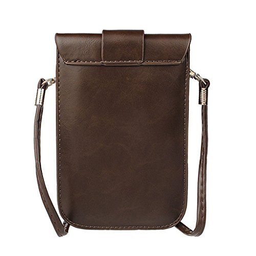 Shoulder Oriskey Single Brown Travel Pouch Handbag Cellphone Leather Womens Crossbody Blue Girls Bag Deep Messenger Mini Purse PU zOqwzrTx8