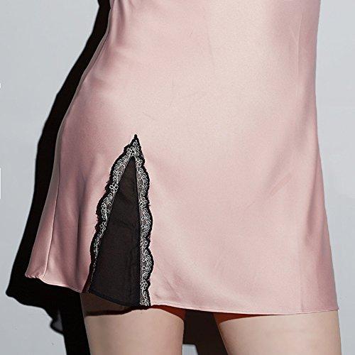 Lencería Satén Ropa Interior Camisón Pijama Ropa de Dormir Mujer Pink