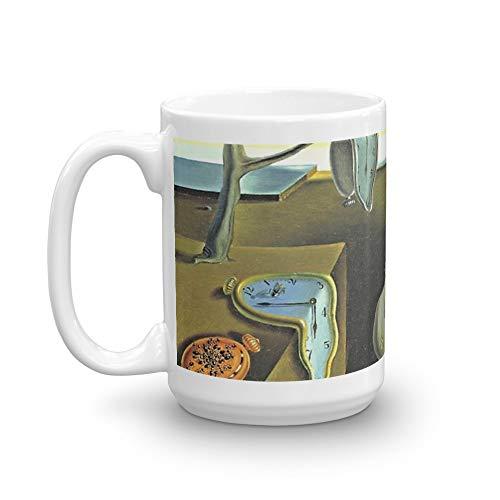 (Melting Clocks Salvador Dali Fine Art 15 Oz White Ceramic.15 Oz Ceramic Glossy Mugs Gift For Coffee Lover Unique Coffee Mug, Coffee Cup.)