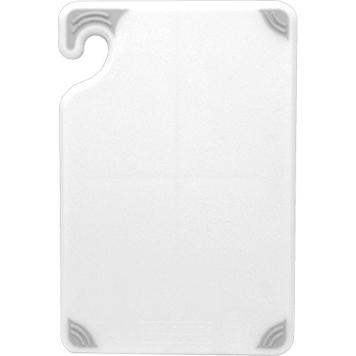 San-Jamar-CBG912-Saf-T-Grip-X-Pediter-Co-Polymer-Cutting-Board-12-Length-x-9-Width-x-38-Thick-White