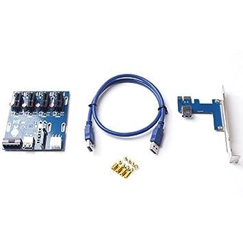 Virus 2017 nueva PCI-E Express 1 X a 3 Puerto PCIe 1 x Riser ...