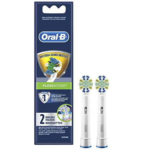 (Oral-B Floss Action Electric Toothbrush Replacement Brush Heads Refill, 2 Count)