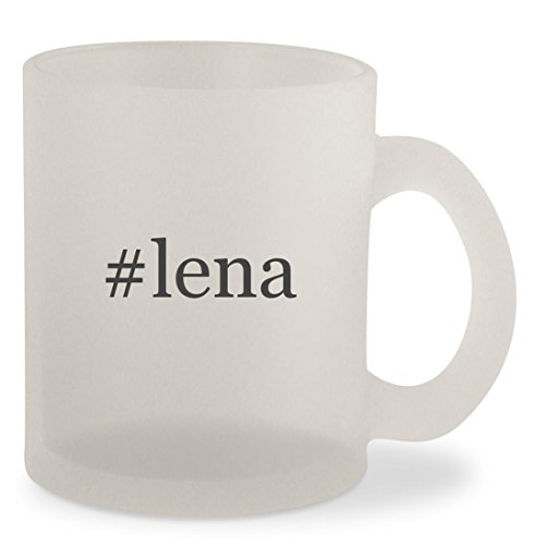 #lena - Hashtag Frosted 10oz Glass Coffee Cup Mug