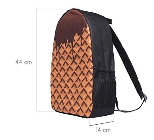 SHFANG Rucksackkursteilnehmer Schultasche Reise breathable 3D Plätzchen Kid's Schultasche 44 * 14cm